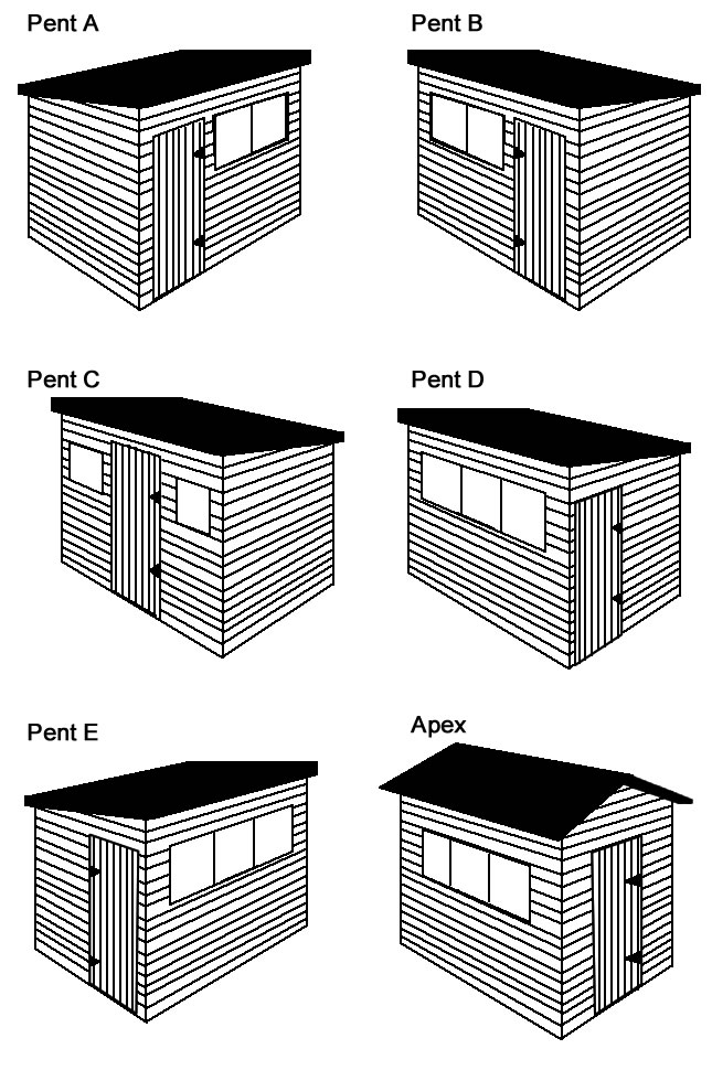 wooden tiber shed types
